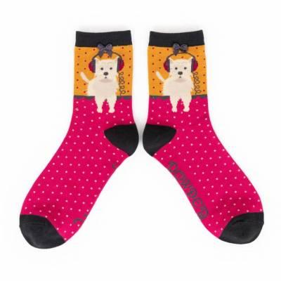 Powder New This Season Womens Luxury Fox Boot Socks RRP £13.99